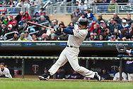 Justin Morneau #33 of the Minnesota Twins bats during a game against the New York Mets on April 13, 2013 at Target Field in Minneapolis, Minnesota.  The Mets defeated the Twins 4 to 2.  Photo: Ben Krause