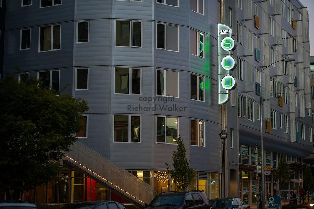 2014 September 11 - AMLI SLU Apartments, South Lake Union, Seattle, WA, USA. By Richard Walker