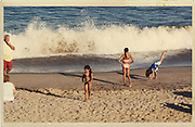 Kids enjoy the beach and ocean. Long Branch, NJ