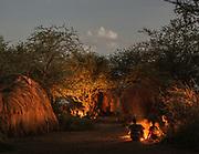 Camp at night. At and near the Hadza camp of Dedauko.