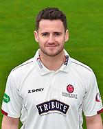 Head shot.  Steve Davies wearing the Somerset Specsavers County Championship kit at the media day at Somerset County Cricket Club at the Cooper Associates County Ground, Taunton, United Kingdom on 11 April 2018. Picture by Graham Hunt.