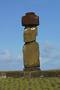 Tahai Arceological site, restored 1988, Easter Island (Rapa Nui), Chile<br />