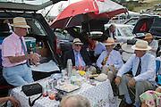 JOHN ROSS; FENWICK SCOTT; JOHN RUTHERFORD; STEPHEN BROWN, Glorious Goodwood. Thursday.  Sussex. 3 August 2013