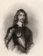 James Graham, lst Marquis of Montrose (1612-1650)  Scottish nobleman and covenanter. Hanged in Grassmarket, Edinburgh. Engraving after the portrait by Vandyke.
