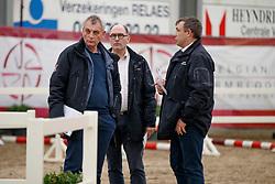 Jury, Oelbrandt Patrick, Tinel Lieven, Schepers Boudewijn <br /> Hengstenkeuring BRP<br /> 3de phase - Hulsterlo - Meerdonk 2018<br /> © Hippo Foto - Dirk Caremans