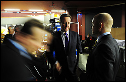 The Prime Minister David Cameron talks to The Foreign Secretary William Hague backstage at the Conservative Party Conference in Birmingham, Sunday October 3. Photo By Andrew Parsons / i-Images.
