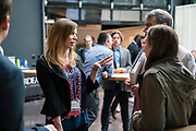 Julia Kanouse from the Illinois Tech Association at the Wisconsin Entrepreneurship Conference at Venue 42 in Milwaukee, Wisconsin, Tuesday, June 4, 2019.