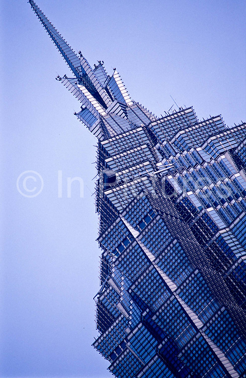 Exteriors of the JIN MAO Tower, Shanghai. The third tallest building in Asia.