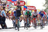 Arrival, Dylan Groenewegen (NED - Team LottoNL - Jumbo) winner, Fernando Gaviria (COL - QuickStep - Floors), Peter Sagan (SVK - Bora - Hansgrohe), Arnaud Demare (FRA - Groupama - FDJ) during the 105th Tour de France 2018, Stage 7, Fougeres - Chartres (231km) on July 13th, 2018 - Photo Luca Bettini / BettiniPhoto / ProSportsImages / DPPI