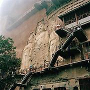 Maijishan Grottoes, Silk Route, Tianshui, Gansu Province, China.