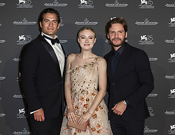 Henry Cavill, Dakota Fanning, Daniel Bruhl attend the Jaeger Le-Coultre Gala night held at Arsenale Docks during the 75th Venice Film Festival at Sala Grande on September 4, 2018 in Venice, Italy. Photo by Marco Piovanotto/ABACAPRESS.COM