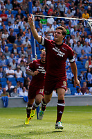 Football - 2013 / 2014 Championship  - Brighton & Hove Albion vs. Derby County<br /> Chris Martin of Derby County celebrates scoring at The American Express Community Stadium <br /> Colorsport/Shaun Boggust
