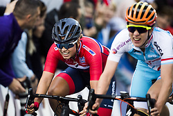 September 23, 2017 - Bergen, NORWAY - 170923  Susanne Andersen of Norway finishes in seventh place during the Women Elite Road Race on September 23, 2017 in Bergen..Photo: Jon Olav Nesvold / BILDBYRN / kod JE / 160028 (Credit Image: © Jon Olav Nesvold/Bildbyran via ZUMA Wire)
