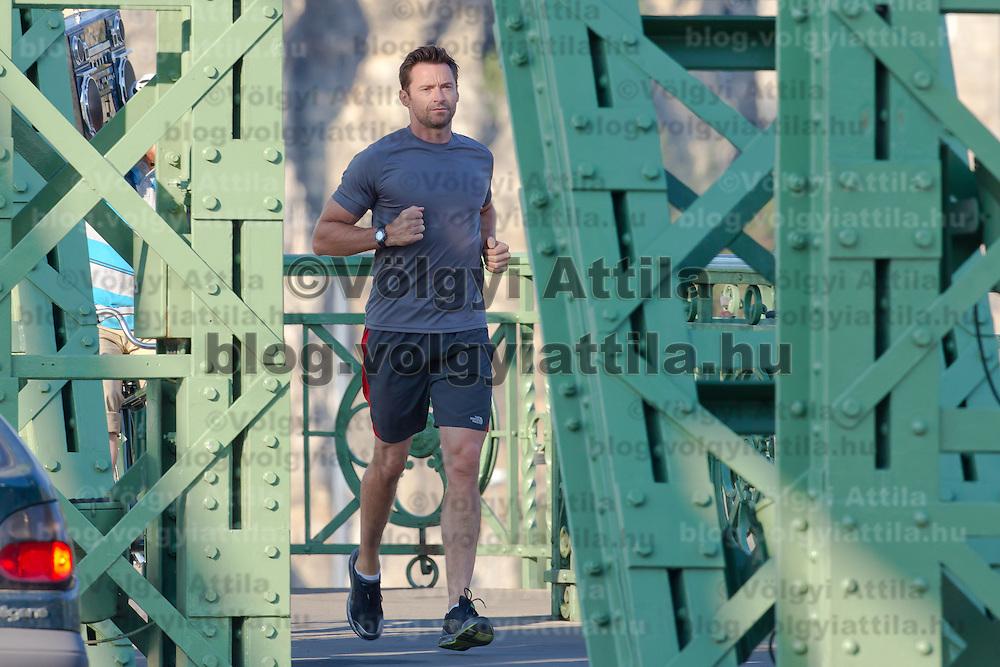 Hollywood actor Hugh Jackman shoots a commercial for Lipton Ice Tea in Budapest, Hungary on September 02, 2011. ATTILA VOLGYI