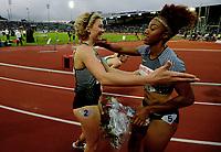 Friidrett , 9. juni 2016 , Diamond League , Bislett Games<br /> Athletics , <br /> ,  Isabelle Pedersen ,  , 100 m h<br /> Brianna Rollins , USA winner 100 m h