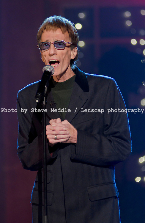 Robin Gibb performing on The Alan Titchmarsh Show 24-10-2011 / Image Can be licensed for use at www.rexfeatures.com