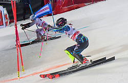 19.02.2019, Stockholm, SWE, FIS Weltcup Ski Alpin, Parallelslalom, Damen, im Bild v.l. Frida Hansdotter (SWE), Christina Geiger (GER) // f.l. Frida Hansdotter of Sweden Christina Geiger of Germany in action during the ladie's parallel slalom of FIS ski alpine world cup at the Stockholm, Sweden on 2019/02/19. EXPA Pictures © 2019, PhotoCredit: EXPA/ Nisse Schmidt<br /> <br /> *****ATTENTION - OUT of SWE*****