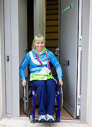 Mateja Pintar of Slovenia in Paralympic village during Day 2 of the Summer Paralympic Games London 2012 on August 29, 2012, in Pralympic village, London, Great Britain. (Photo by Vid Ponikvar / Sportida.com)