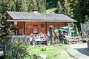 Alpine restaurant and rest spot. Photographed in Tyrol, Austria