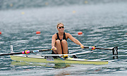 Bled, SLOVENIA,  NZL W1X, Emma TWIGG  moves away from the start in her heat of the women's single Sculls,  on the opening day, FISA World Cup, Bled venue, Lake Bled.  Friday  28/05/2010  [Mandatory Credit Peter Spurrier/ Intersport Images] Cop last event as international level.