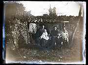 deteriorating women with children family portrait France 1921