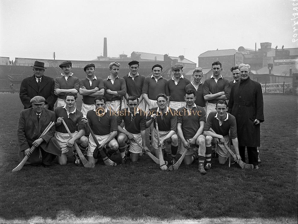 31/03/1957<br /> 03/31/1957<br /> 31 March 1957<br /> National Hurling League: Dublin v Cork at Croke Park, Dublin. Cork Team.