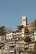 Shimla Town and Christ Church, Shimla, India