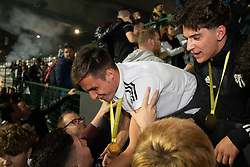 Fans celebrating winning the national championship with players of NS Mura in Fazanerija stadium after football match between NK Maribor and NS Mura in 36th Round of Prva liga Telekom Slovenije 2020/21, on 22 of May, 2021 in Ljudski Vrt, Maribor, Slovenia. Photo by Blaž Weindorfer / Sportida