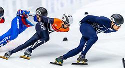 13-01-2019 NED: ISU European Short Track Championships 2019 day 3, Dordrecht<br /> Sitnikov Pavel #166 RUS, Vladislav Bykanov #41 ISR, Itzhak De Laat #27 NED