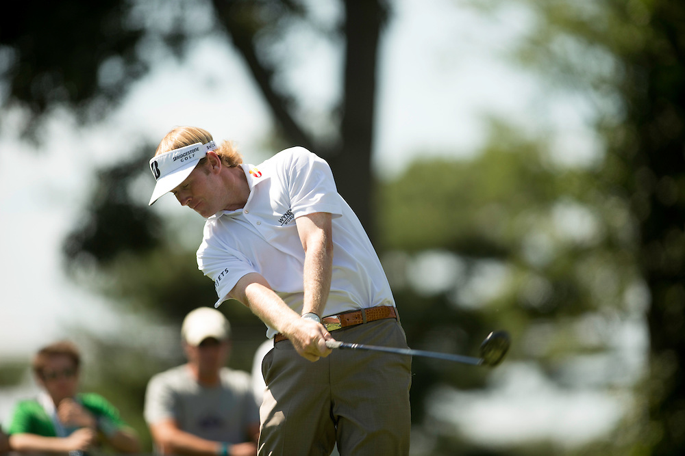 FARMINGDALE, NY - AUGUST 26:  Brandt Snedeker plays a tee shot during the final round of the 2012 Barclays at the Black Course at Bethpage State Park in Farmingale, New York on August 26, 2012. (Photograph ©2012 Darren Carroll) *** Local Caption *** Brandt Snedeker