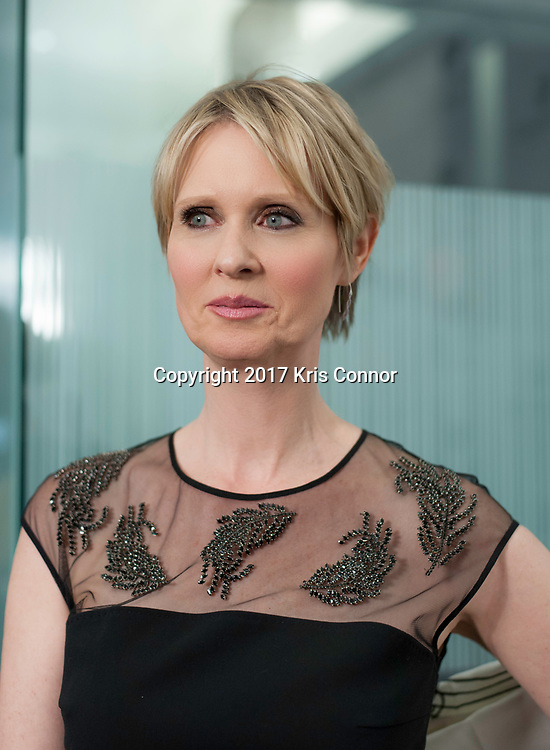 Actress Cynthia Nixon poses for a portrait during the 2017 Afgan Hands Fundraiser on March 8, 2017 in New York City.