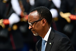 May 23, 2018 - Paris, France - The President of Rwanda Paul Kagame arrives for a meeting with French President Emmanuel Macron at Elysee Palace on May 23, 2018 in Paris, France. Since 1994 and the genocide in Rwanda, relations between the two capitals have remained tense. (Credit Image: © Julien Mattia/NurPhoto via ZUMA Press)
