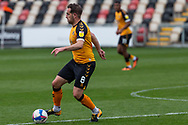 Newport County's Matthew Dolan (8) in action during the EFL Sky Bet League 2 match between Newport County and Tranmere Rovers at Rodney Parade, Newport, Wales on 17 October 2020.