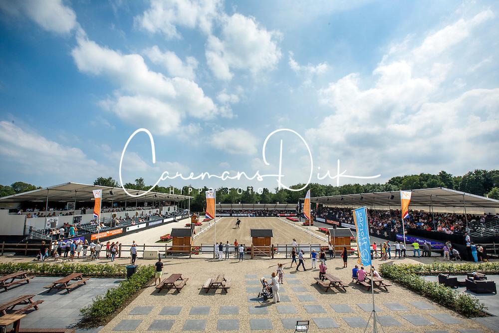 Overview arena<br /> Kingsley Donadeo Grand Prix<br /> Dutch Championship Dressage - Ermelo 2015<br /> © Hippo Foto - Dirk Caremans<br /> 17/07/15