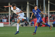 Samuele Ricci of Italy (7) goes close with a header during the UEFA European Under 17 Championship 2018 match between Israel and Italy at St George's Park National Football Centre, Burton-Upon-Trent, United Kingdom on 10 May 2018. Picture by Mick Haynes.