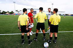 Captains Bailey Wright of Bristol City and Richard Keogh of Derby County - Rogan/JMP - 13/07/2019 - IMG Academy, Bradenton - Florida, USA - Bristol City v Derby County - Pre-Season Tour Day 3.