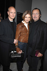 Left to right, The HON.JUSTIN PORTMAN, NATALIA VODIANOVA and photographer PAOLO ROVERSI at the opening party for 'Face of Fashion' an exhibition of photographs by five of the World's leading fashion photographers held at the National Portrait Gallery, St.Martin's Lane, London on 12th February 2007.<br /><br />NON EXCLUSIVE - WORLD RIGHTS