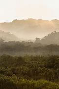 Misty Mountains in Manu National Park, Peru, South America
