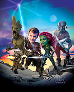 A group of space criminals must work together to stop a fanatical villain from destroying the galaxy. Chris Pratt as Peter Quill, Zoe Saldana as Gamora, Dave Bautista as Drax, Bradley Cooper as Rocket and Vin Diesel as Groot. Originally Published in Penthouse Magazine DVD Review.