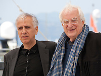 Composer Bruno Coulais and director Bertrand Tavernier and at the Voyage A Travers Le Cinema Français photo call at the 69th Cannes Film Festival Tuesday 17th May 2016, Cannes, France. Photography: Doreen Kennedy