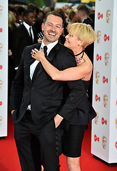 Ashley Taylor and Lysette Anthony arriving for the Virgin TV British Academy Television Awards 2017 held at Festival Hall at Southbank Centre, London. PRESS ASSOCIATION Photo. Picture date: Sunday May 14, 2017. See PA story SHOWBIZ Bafta. Photo credit should read: Matt Crossick/PA Wire