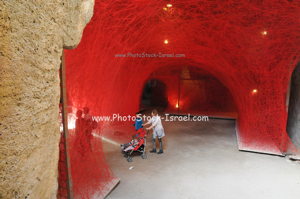 Fabrica Hill catacomb, Paphos, Cyprus. hosting the Pafos 2017 art exhibition A walk through the line