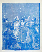 The Coming of the Holy Ghost From the book ' Young folks' Bible in words of easy reading : the sweet stories of God's word in the language of childhood and in the beautiful delineations of Christian art, the whole designed to impres the mind and heart of the youngest readers, and kindle a genuine love for the book of books ' by Pollard, Josephine, 1834-1892 Published in Chicago in 1889