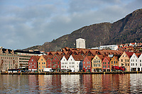 Historic Bergen from across the harbor. Two of seven images taken with a Nikon 1 V2 camera and 10-30 mm lens(ISO 200, 30 mm, f/5.6, 1/1000 sec).