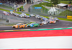 01.08.2015, Red Bull Ring, Spielberg, AUT, DTM Red Bull Ring, Rennen, im Bild v.l.: Jamie Green (GRB, Audi RS 5 DTM), Edoardo Mortara (ITA, Audi RS 5 DTM), Pascal Wehrlein (GER, Mercedes-AMG C 63 DTM), Paul Di Resta (GBR, Mercedes-AMG C 63 DTM), Augusto Farfus (BRA, BMW M4 DTM), Christian Vietoris (GER, Mercedes-AMG C 63 DTM), Robert Wickens (CAN, Mercedes-AMG C 63 DTM), Mattias Ekstroem (SWE, Audi RS 5 DTM), Mike Rockenfeller (GER, Audi RS 5 DTM), Gary Paffett (GBR, Mercedes-AMG C 63 DTM), Adrien Tambay (FRA, Audi RS 5 DTM), Bruno Spengler (CAN, BMW M4 DTM) // during the DTM Championships 2015 at the Red Bull Ring in Spielberg, Austria, 2015/08/01, EXPA Pictures © 2015, PhotoCredit: EXPA/ Dominik Angerer
