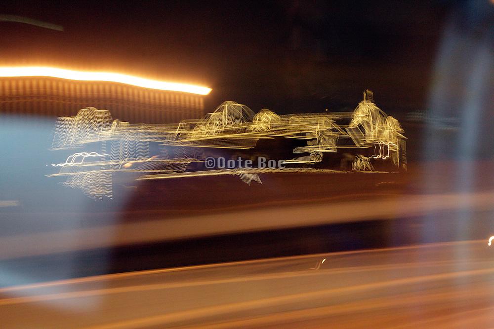 Tokyo Walt Disney resort seen from the highway at night