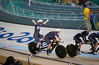 20160911 Copyright onEdition 2016©<br /> Free for editorial use image, please credit: onEdition<br /> <br /> Cyclist Sophie Thornhill (Tandem B) from Poynton, Stockport, competing, wins a bronze medal for ParalympicsGB at the Rio Paralympic Games 2016.<br />  <br /> ParalympicsGB is the name for the Great Britain and Northern Ireland Paralympic Team that competes at the summer and winter Paralympic Games. The Team is selected and managed by the British Paralympic Association, in conjunction with the national governing bodies, and is made up of the best sportsmen and women who compete in the 22 summer and 4 winter sports on the Paralympic Programme.<br /> <br /> For additional Images please visit: http://www.w-w-i.com/paralympicsgb_2016/<br /> <br /> For more information please contact the press office via press@paralympics.org.uk or on +44 (0) 7717 587 055<br /> <br /> If you require a higher resolution image or you have any other onEdition photographic enquiries, please contact onEdition on 0845 900 2 900 or email info@onEdition.com<br /> This image is copyright onEdition 2016©.<br /> <br /> This image has been supplied by onEdition and must be credited onEdition. The author is asserting his full Moral rights in relation to the publication of this image. Rights for onward transmission of any image or file is not granted or implied. Changing or deleting Copyright information is illegal as specified in the Copyright, Design and Patents Act 1988. If you are in any way unsure of your right to publish this image please contact onEdition on 0845 900 2 900 or email info@onEdition.com