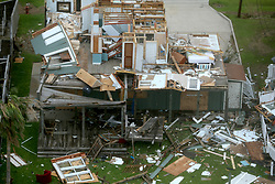 August 27, 2017 - Rockport, Texas, U.S. - Hurricane Harvey storm damage is seen in this Sunday, aerial photo. Harvey made landfall in Rockport, Texas late Friday night as a Category 4 hurricane. (Credit Image: © San Antonio Express-News via ZUMA Wire)