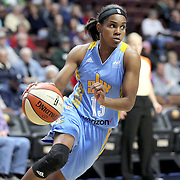 UNCASVILLE, CONNECTICUT- MAY 05:  Jordan Jones #13 of the Chicago Sky in action during the Atlanta Dream Vs Chicago Sky preseason WNBA game at Mohegan Sun Arena on May 05, 2016 in Uncasville. (Photo by Tim Clayton/Corbis via Getty Images)