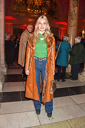 Nell Hudson at the Mary Quant VIP Preview at The Victoria & Albert Museum, London, England. 03 April 2019. <br /> <br /> ***For fees please contact us prior to publication***